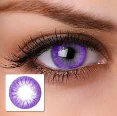 Lavender contact lens. Beautiful!