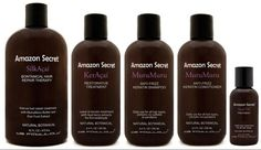 Amazon Series....Keratin Enriched. this product really works for frizzy hair. no harmfull fumes and is affordable.