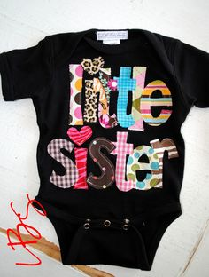 Custom BIG or LITTLE... Sister or Brother Shirt... Boys and Girls. $25.00, via Etsy.
