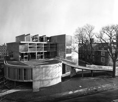 Carpenter Center for the Visual Arts at Harvard University. Le Corbusier's  only building in North America.