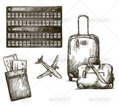 Illustration about Airplane travel doodles. Vector illustration EPS Illustration of display, sketch, arrival - 35388929 Airplane Doodle, Airplane Sketch, Airplane Drawing, Travel Icon, New Travel, Travel Bag, India Travel, Boutique Cuir, Travel Doodles