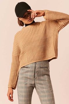 LOVE 21 Chunky Waffle Knit Sweater /cozy sweater / chunky sweater / fall fashion / fall outfits