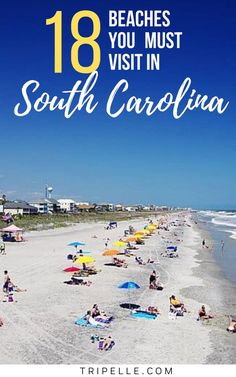 Yes, there are actually the best South Carolina Beaches list! There is more than two thousand miles of coastline in the state of South Carolina, so it shouldn't be surprising that there are so many incredible beaches there. Out of all the best beaches in SC, everyone seems to have their own personal favorite. However, that doesn't mean you shouldn't venture from the top beaches in South Carolina to some of the other places on the South Carolina beach map. Beach Fun, Beach Trip, Vacation Trips, Beach Travel, Vacations, Usa Travel, Solo Travel, Travel Info, Travel Guides
