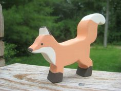 Ferdinand the Fox Wooden Waldorf Fox toy eco by MoonflowerToys