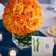 roses centerpieces.....cute to line head table w