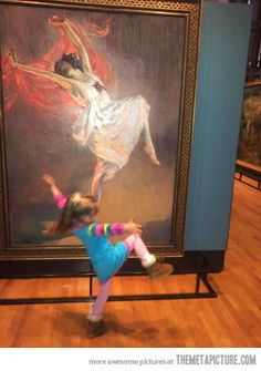 A little girl is moved by art.  Just might be the cutest thing I've seen in a while!