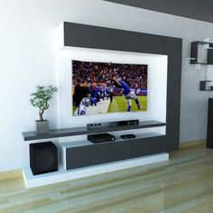 Top 50 Modern TV Stand Design Ideas For 2020 - Engineering Discoveries Tv Stand Modern Design, Modern Tv Unit Designs, Tv Stand Designs, Living Room Tv Unit Designs, Tv Wall Unit Designs, Tv Stand Ideas For Living Room, Tv Unit Interior Design, Tv Unit Furniture Design, Tv Wall Design