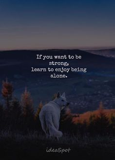 Learn to enjoy being alone. My Life Quotes, Reality Quotes, Attitude Quotes, Daily Quotes, Wisdom Quotes, True Quotes, Words Quotes, Quotable Quotes, Sayings