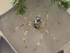 Christmas Spider Ornament Story | German Christmas Tree Beaded Spider Legend Tarantula Ornament Handmade ...