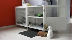 Hack An IKEA Shelf Into A Stylish Rabbit Hutch - Maybe behind the sofa, or have bookshelves on top for kids room?