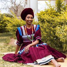 Pedi Traditional Attire, Sepedi Traditional Dresses, African Traditional Wedding Dress, African Fashion Traditional, African Print Dresses, African Print Fashion, African Fashion Dresses, African Dress, African Prints