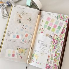 Watercolour in a Midori Travellers Notebook
