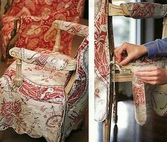 Project Runway for Chairs ~ best tutorial I've ever seen on a custom slipcovers with good instructions and amazing details