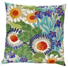 Add fabulous floral style to your living space with this Ocala cushion by Missoni Home(please note pattern may vary slightly from image due to cut of fabric).Bold blooms are patterned across the ...