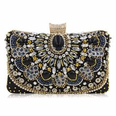Milisente Women Evening Bags Silver Clutch Luxury Wedding Purse Sister Party Beaded Bag