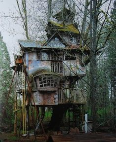 Tree house for the back garden