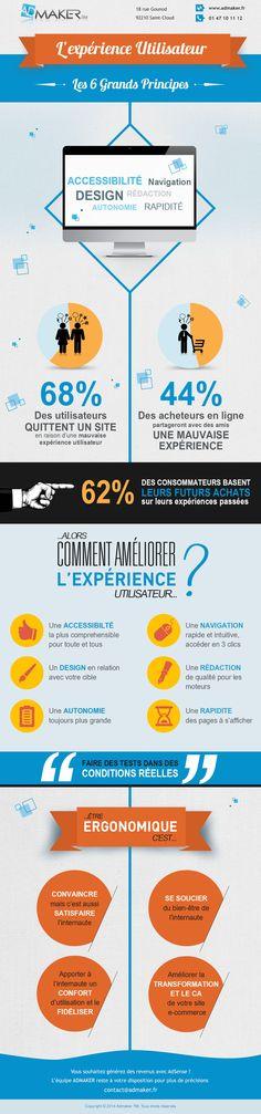 Infographie : Ergonomie,améliorer l'expérience utilisateur de votre site e-commerce