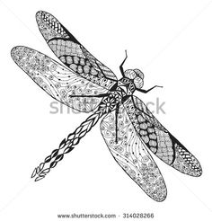 Animal Zentangle Coloring Page Fotografie, snímky a obrázky | Shutterstock