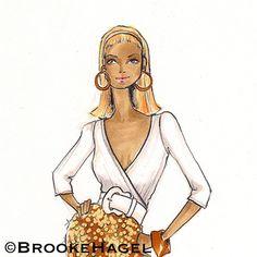 Samantha Jones Fashion Illustration Print by brooklit on Etsy