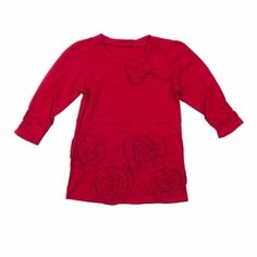 Trish Scully Christmas Floral Red Tunic -Designer Girl Clothes only $32.00 - New Items