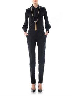 Saint Laurent - Tie-neck silk blouse