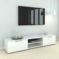 2 Shelf Tv Stand, Low Tv Stand, Tv Stand Decor, Tv Stand With Drawers, White Tv Stands, Modern Tv Stands, Cool Tv Stands, Rack Tv, Living Room Arrangements