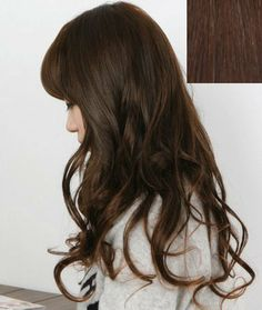 """Silver J Clip in hair extension for full head 18"""", beautiful wavy synthetic hair, medium dark brown. 14 pieces. by Silver J. $29.98"""