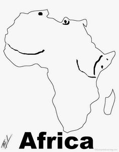 A funny map of Africa