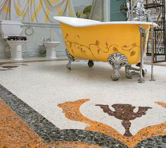 I love claw foot tubs. They have such interesting detail and can easily be the focal point in the bathroom.