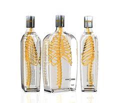 Spine vodka packaging design.
