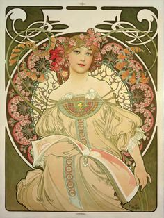 Alfons Mucha, Champagne Printer Publisher, 1897.                                                                                                                                                                                 More
