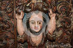 Medieval Antique Carved Wood Man Image - (C) Celia Ascenso 2016