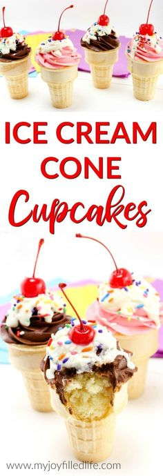 Ice Cream Cone Cupcakes #bringJOYhome #recipes