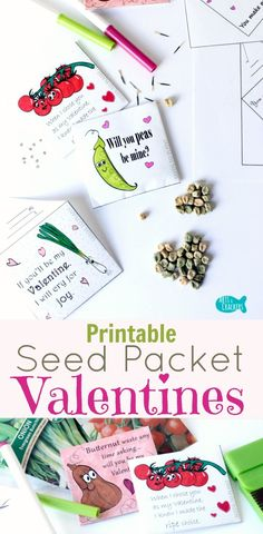 An educational non-candy Valentine's Day ideas, these Seed Packet Valentines are always a huge hit. Print free coloring pages or purchase the full set   Valentine's Day   Valentines   Non-Candy Valentines   Valentine's Day for Kids   Seed Packets   Garden