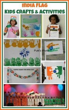 India Flag Kids Crafts for Independence and Republic Day!!