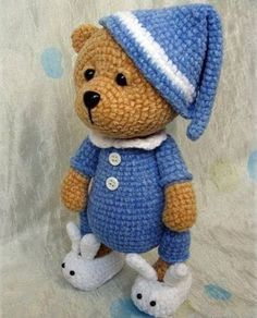 Teddy Bear Sleeper - Amigurumi - Free Crochet Pattern