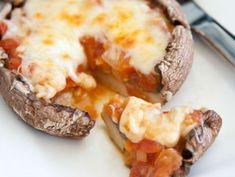 Pizzas en hongo portobello   ActitudFEM