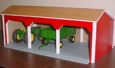 Quality handcrafted wooden toy barns and pole sheds by Murfcraft. Wooden Toy Barn, Barn Wood, Wooden Toy Plans, Wooden Toy Garage, Wooden Crafts, Wooden Diy, Kids Barn, Farm Toys, Man Cave Home Bar