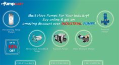 Must Have Pumps For Your Industry!                                Buy online & get an amazing discount over #IndustrialPumps, only at @pumpkart.com Dewatering Pumps, Industrial Pumps, Must Haves, Amazing