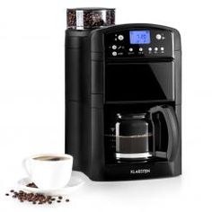 Aromatica II Thermo Coffee Machine, Grinder, l, Black - For a pleasurable start to the day: the Klarstein Aromatica II Thermo coffee maker with a built-in grinder, different degrees of grinding a Filter Coffee Machine, Espresso Coffee Machine, Drip Coffee Maker, Coffee Cans, Coffee Aroma, French Press Coffee Maker, Glass Jug, Fresh Coffee, Black Glass