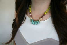 Bohemian Beaded Statement Necklace