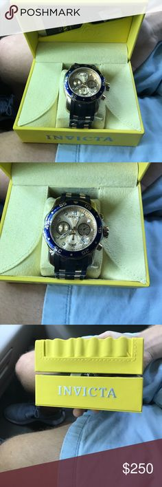 Invicta Pro Diver Men's Watch Stainless steel case and bezel. Polyurethane band. Water resistant 200m. Brand new, never worn. Unopened original case and cleaning cloth. Invicta Accessories Watches