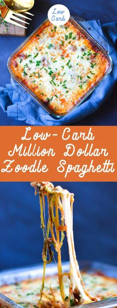 You WILL NOT miss the carbs in this Million Dollar Zoodle Spaghetti. Get ready for your new obsession. via You will not miss the pasta in this rich and delicious Low-Carb Million Dollar Zoodle Spaghetti. Eating low carb has never been this easy! Zoodle Recipes, Spiralizer Recipes, Diet Recipes, Cooking Recipes, Healthy Recipes, Recipes Dinner, Bariatric Recipes, Sausage Recipes, Chicken Recipes