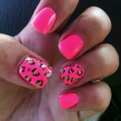 Pink leopard nails - Hand Nail Design FoR Women Pink Leopard Nails, Pink Nails, Chevron Nails, French Nails, Nails 2015, Nail Candy, Pretty Nail Designs, Creative Nails, Beauty Nails