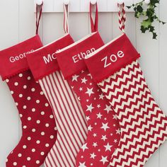 Luxury Personalised Christmas Santa Stocking - I Love Buying Family Members Personalised Stockings - They Look So Pretty Lined Up Along The Wall!