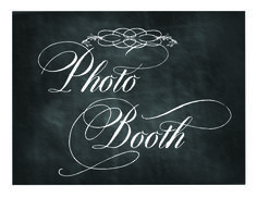Free Printable Chalkboard Sign: Photo Booth with Dom Loves Mary font from www.letteringartstudio.com