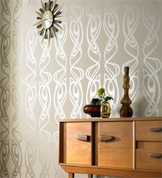 swooning over this wallpaper from Barbara Hulanicki / Biba