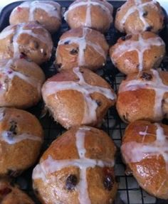Hot Cross Buns are still a Good Friday tradition.  The recipe I inherited from my Granny' makes this and other sweet buns to share with family and friends.