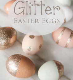 12 originálních nápadů, jak nabarvit velikonoční vajíčka Gold Easter Eggs, Origami, Glitter, Wallpaper, Spring, Drawings, Diy, Decoration, Decor