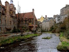 Dean Village in Edinburgh..